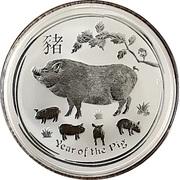 8 Dollars - Elizabeth II (4th Portrait - Year of the Pig) -  reverse