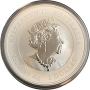 1 Dollar - Elizabeth II (6th Portrait - Year of the Mouse) -  obverse