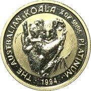 25 Dollars - Elizabeth II (3rd Portrait - Koala - Platinum Bullion Coin) -  reverse