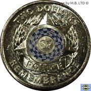 2 Dollars - Elizabeth II (4th Portrait - Police Remembrance Day) -  reverse