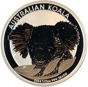 50 Cents - Elizabeth II (4th Portrait - Australian Koala) -  reverse