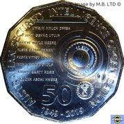 50 Cents - Elizabeth II (4th Portrait - 70 Years of ASIO) -  reverse