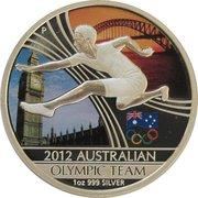 1 Dollar - Elizabeth II (4th Portrait - Australian Olympic Team) -  reverse