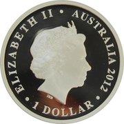 1 Dollar - Elizabeth II (4th Portrait - Diamond Jubilee) -  obverse