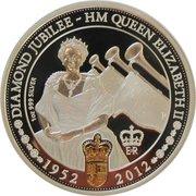1 Dollar - Elizabeth II (4th Portrait - Diamond Jubilee) -  reverse