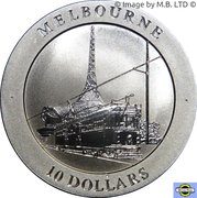 10 Dollars - Elizabeth II (4th Portrait - Melbourne Tram) -  reverse