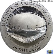 10 Dollars - Elizabeth II (4th Portrait - Melbourne Cricket Ground) – reverse