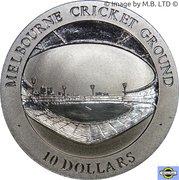 10 Dollars - Elizabeth II (4th Portrait - Melbourne Cricket Ground) – reverse