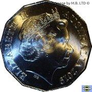 50 Cents - Elizabeth II (4th Portrait - 70 Years of ASIO) -  obverse
