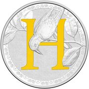 1 Dollar - Elizabeth II (4th Portrait - Alphabet Collection - Letter H - Silver Proof) -  reverse