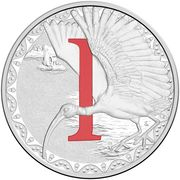 1 Dollar - Elizabeth II (4th Portrait - Alphabet Collection - Letter I - Silver Proof) -  reverse