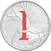 1 Dollar - Elizabeth II (4th Portrait - Alphabet Collection - Letter I - Silver Proof) -  reverse
