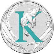 1 Dollar - Elizabeth II (4th Portrait - Alphabet Collection - Letter K - Silver Proof) -  reverse