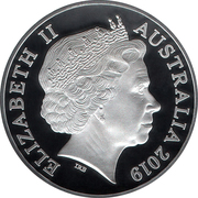 1 Dollar - Elizabeth II (4th Portrait - Moon Landing ) -  obverse