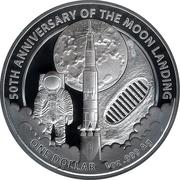 1 Dollar - Elizabeth II (4th Portrait - Moon Landing ) -  reverse