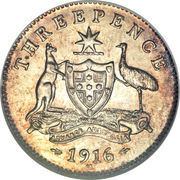 3 Pence - George V – reverse