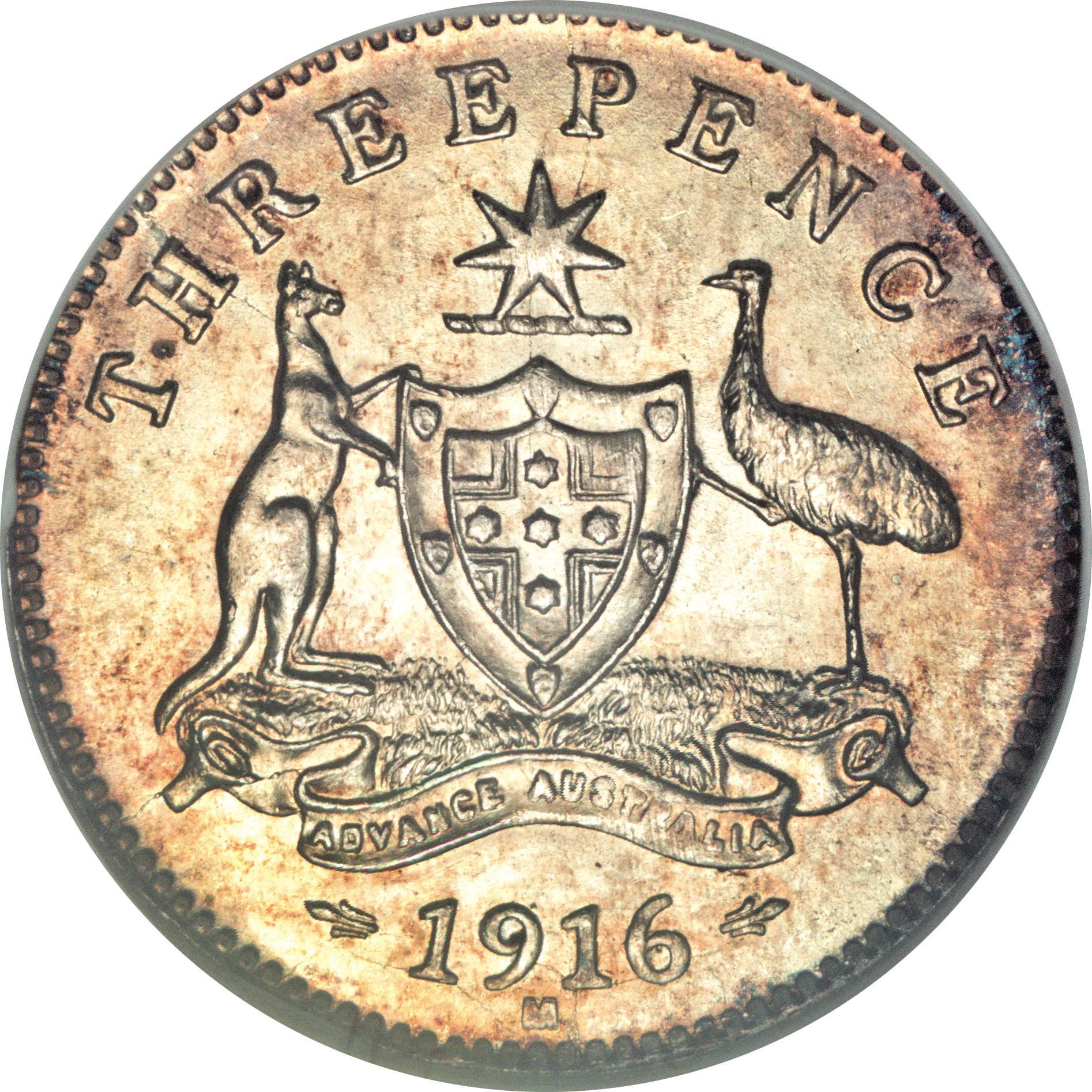 3 Pence - George V - Australia – Numista