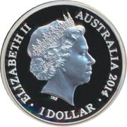 1 Dollar - Elizabeth II (4th Portrait - Year of the Horse - Silver Proof) -  obverse