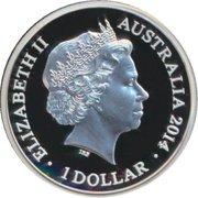 1 Dollar - Elizabeth II (4th Portrait - Year of the Horse - Silver Proof) -  obverse