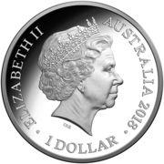1 Dollar - Elizabeth II (4th Portrait - Year of the Dog - Silver Proof) -  obverse