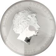30 Dollars - Elizabeth II (4th Portrait - Year of the Pig) -  obverse