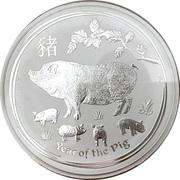 30 Dollars - Elizabeth II (4th Portrait - Year of the Pig) -  reverse