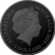 5 Dollars - Elizabeth II (4th Portrait - Tasmanian Tiger) -  obverse