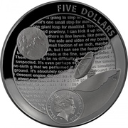 5 Dollars - Elizabeth II (4th Portrait - Moon Landing 50th Anniversary - Silver Domed) -  obverse