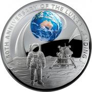 5 Dollars - Elizabeth II (4th Portrait - Moon Landing 50th Anniversary) -  reverse