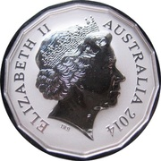 50 Cents - Elizabeth II (4th Portrait - Lunar Year of the Horse - Silver Proof) -  obverse