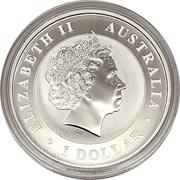 1 Dollar - Elizabeth II (4th Portrait - Australia Gilded Kangaroo) -  obverse