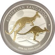 1 Dollar - Elizabeth II (4th Portrait - Australia Gilded Kangaroo) -  reverse