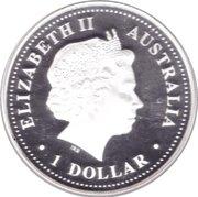 1 Dollar - Elizabeth II (4th Portrait - Discover Australia - Brisbane) -  obverse