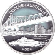 1 Dollar - Elizabeth II (4th Portrait - Discover Australia - Brisbane) -  reverse
