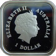 1 Dollar - Elizabeth II (4th Portrait - 50th Anniversary of Australian Television) -  obverse