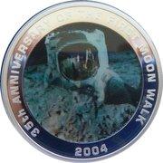 1 Dollar - Elizabeth II (4th Portrait - 35th Anniversary of Moon Walk) – reverse