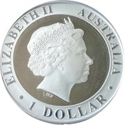 1 Dollar - Elizabeth II (4th Portrait - 35th Anniversary of Moon Walk) -  obverse