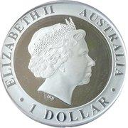 1 Dollar - Elizabeth II (4th Portrait - 35th Anniversary of Moon Walk) – obverse