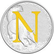 1 Dollar - Elizabeth II (4th Portrait - Alphabet Collection - Letter N - Silver Proof) -  reverse