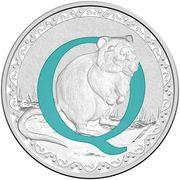 1 Dollar - Elizabeth II (4th Portrait - Alphabet Collection - Letter Q - Silver Proof) -  reverse