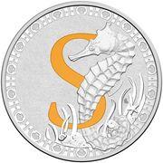 1 Dollar - Elizabeth II (4th Portrait - Alphabet Collection - Letter S - Silver Proof) -  reverse