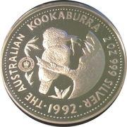 2 Dollars - Elizabeth II (3rd Portrait - Australian Kookaburra) -  reverse