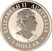 1 Dollar - Elizabeth II (6th Portrait - Australia Gilded Kangaroo) -  obverse