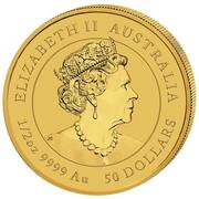 50 Dollars - Elizabeth II (6th Portrait - Year of the Mouse - Gold Bullion Coin) -  obverse