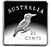 25 Cents - Elizabeth II (4th Portrait - Kookaburra 1919 Pattern) -  reverse