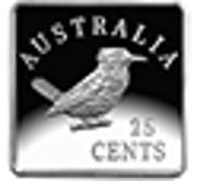 25 Cents - Elizabeth II (4th Portrait - Kookaburra 1920 Pattern) -  reverse