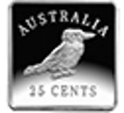 25 Cents - Elizabeth II (4th Portrait - Kookaburra 1921 Pattern) -  reverse