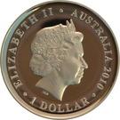 1 Dollar - Elizabeth II (4th Portrait - Sydney Cove Medallion) – obverse