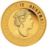3000 Dollars - Elizabeth II (6th Portrait - Australian Wedge-Tailed Eagle) -  obverse