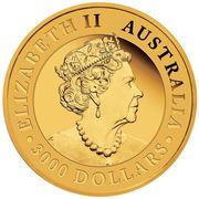 3000 Dollars - Elizabeth II (6th Portrait - Australian Wedge-Tailed Eagle) -  obverse